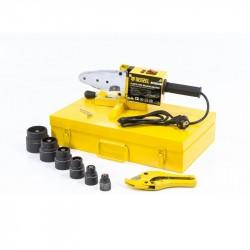 Аппарат для сварки пластиковых труб DWP-1500, 1500Вт, 260-300 градусов комплект насадок,20-63 мм DEN