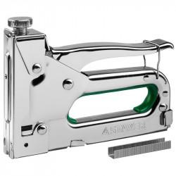 Степлер мебельный 4 в 1 для скоб и гвоздей тип 140, 300, 28, 500 (6-14мм) Stayer MASTER 31508_z02