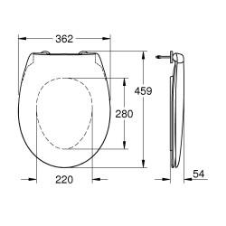 Сиденье для унитаза Grohe Bau Ceramic 39493000