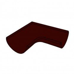 Угол желоба, цвет шоколадно-коричневый RAL 8017, d-125 мм х 90°