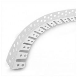 Угол ПВХ под штукатурку перфорированный арочный 3,0м белый
