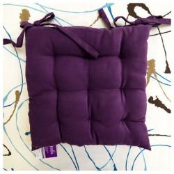 Галета на стул 40*40 04 велюр однотонный (14024), Фиолетовый (7172)