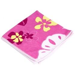 Салфетка из микрофибры 30*30см с рисунком, розовая M-04P