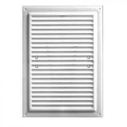 Решетка вентиляционная ПВХ 250*180мм без фланца, белая с моск.сеткой, ДВ 250*180С, ДОМОВЕНТ