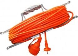 Удлинитель-шнур 50м 1гн 6А (ПВС 2х0,75) на рамке УШ-6 Универсал  9632020