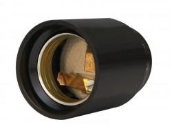 Патрон E27 карболит черный, люстровый М10, UNIVERSAL, 5565266