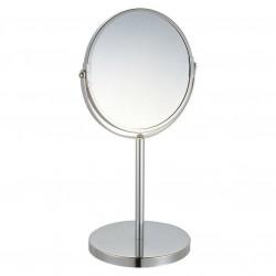 Зеркало косметическое M-1605 двухстороннее на ножке 17*17*35см, хром. металл, стекло