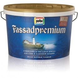 Краска JOBI R10 5л FASSADPREMIUM акриловая фасадная