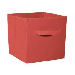 Коробка стеллажная на молнии 310*310*310мм Красный