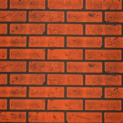Панель стеновая МДФ 1,22*2,44*0,006м Кирпич Красный Обожженый