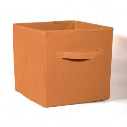 Коробка стеллажная на молнии 310*310*310мм Коричневый