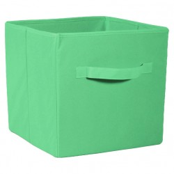 Коробка стеллажная на молнии 310*310*310мм Зеленый