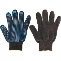 Перчатки х/б с ПВХ 10 класс 5 нитей черные размер 10