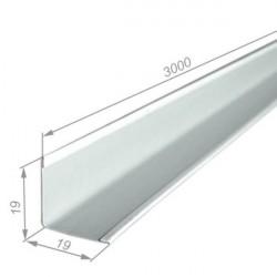 Плинтус PL 19*19мм стальной 3.0м белый