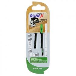 Набор пилок для лобзика 2шт по дереву T119BO 75*50мм RUNEX 555109-2
