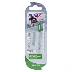 Набор пилок для лобзика 2шт по металлу T118B 75*50мм RUNEX 555002-2