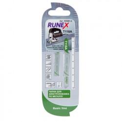 Набор пилок для лобзика 2шт по металлу T118A 75*50мм RUNEX 555001-2