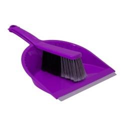 Щетка-сметка и совок с резинкой СТАНДАРТ фиолетовый
