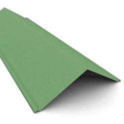 Щипец черепицы Ондулин, цвет зеленый, 1000 х 150 мм