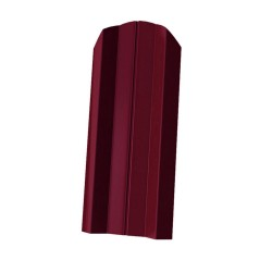 Штакетник М-образный, цвет красное вино RAL 3005, 1800 х 76 мм