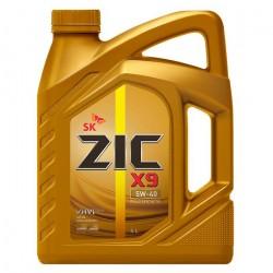 Масло моторное 5W40 4л синтетическое ZIC X9 5W40 SM/CF 162613