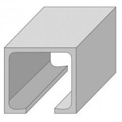 Направляющая нижняя для раздвижных дверей N4-1м