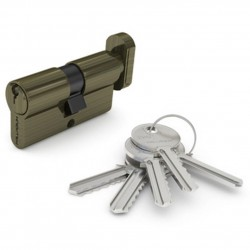 Механизм цилиндровый ФЗ  E AL 70 ключ/вертушка AB(античная бронза)