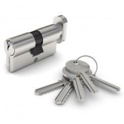 Механизм цилиндровый ФЗ  E AL 70 ключ/вертушка CP(хром)