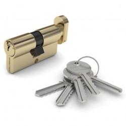 Механизм цилиндровый ФЗ  E AL 70 ключ/вертушка PB(латунь)