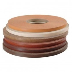 Кромочная лента меламиновая с клеем 19 мм - белая (5 м)