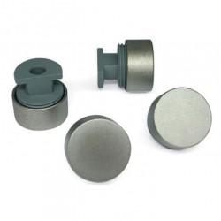 Зеркалодержатель d17 мм без сверления, хром матовый (комплект)