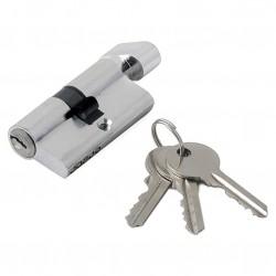 Механизм цилиндровый ФЗ  E AL 60 ключ/вертушка CP(хром)
