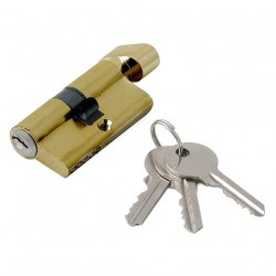Механизм цилиндровый ФЗ  E AL 60 ключ/вертушка PB(латунь)