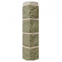 Угол наружный к фасадной панели FineBer 0,47м Камень серо-зеленый