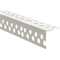 Угол ПВХ 25*25 под штукатурку перфорированный прямой 3,0м белый /Д/