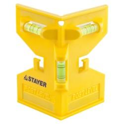 Уровень-угольник POSTLevel пластмассовый с магнитом, 3 ампулы  MASTER STAYER 3456_z01