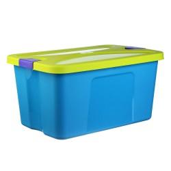 Ящик для игрушек СЕКРЕТ 45л Бирюзовый