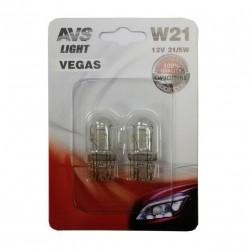 Лампа автомобильная AVS Vegas 12V. W21/5W 2шт (W3x16q) A78477S