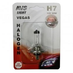 Лампа галогенная AVS Vegas H7.12V.55W 1шт A78483S