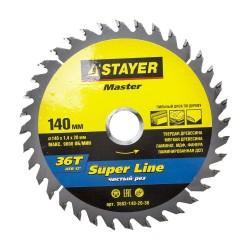Диск пильный по дереву 140*36зуб*20 SUPER-Line MASTER STAYER 3682-140-20-36