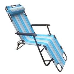 Кресло-шезлонг Бриз Max 1,78*0,6*0,86 maх нагрузка 120кг