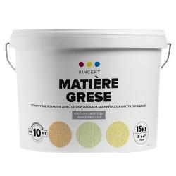 Покрытие Vincent Matiere Grese S 2 структурное для фасадов и стен внутри помещений 15кг