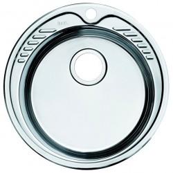 Мойка накладная IDDIS D49 круглая нержавеющая сталь