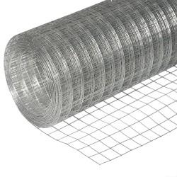 Сетка сварная оцинкованная, d 1,6 мм, размер ячейки 50х50мм,  размер сетки 1,5х15м (22,5м2, 1 рулон)