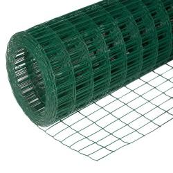 Сетка сварная оцинков. ПВХ-покрытие (зелен.), d1,6мм, ячейка 50х50мм, сетка 1,5х15м (22,5м2, 1 рул.)
