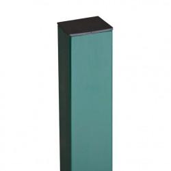 Столб профильный, цвет зеленый, сечение 40 х 40 мм, высота 2,4 м