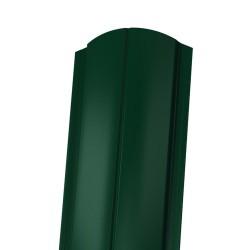 Штакетник ЕВРО фигурный, цвет зеленый мох RAL 6005, 1800 х 130 мм