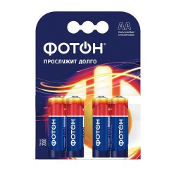 Батарейка АА алкалиновая ФОТОН, 4шт