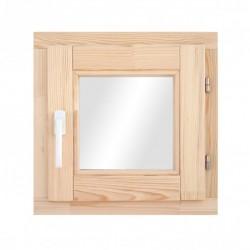 Окно деревянное с однокамерным стеклопакетом  580 х 580 мм