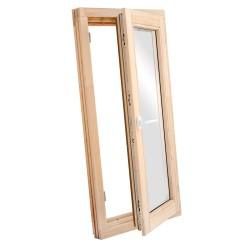 Окно деревянное с однокамерным стеклопакетом  960 х 580 мм